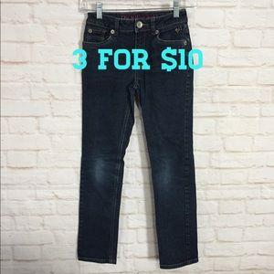 Justice dark wash skinny jeans 12 slim